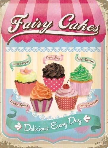Plechová cedule Zmrzlina - Fairy cakes - delicious every day