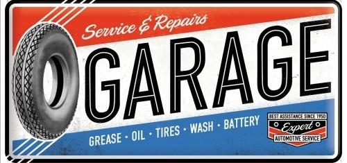 Plechová cedule Service repairs Garage