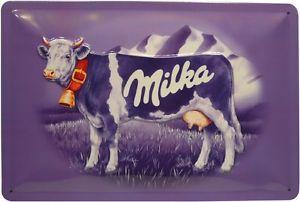 Plechová cedulka Milka