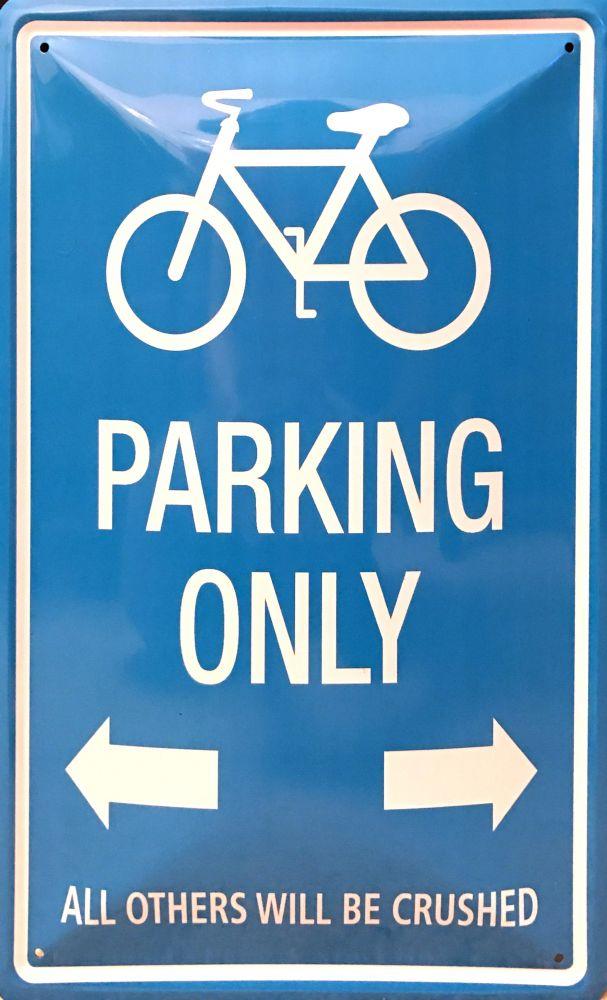 Plechová cedule Bike Parking Only