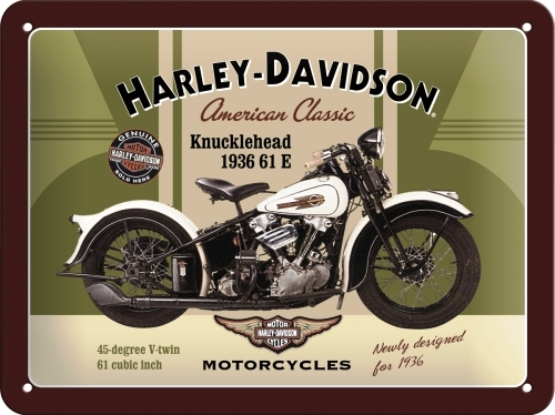 Plechová cedule motorka Harley Davidson Knucklehead