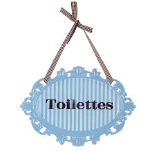 Plechová cedulka na dveře Toilettes - WC