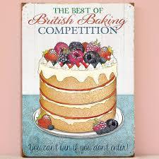 Plechová cedule Zmrzlina - British Baking Competition