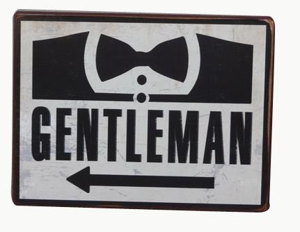Plechová cedule Gentleman