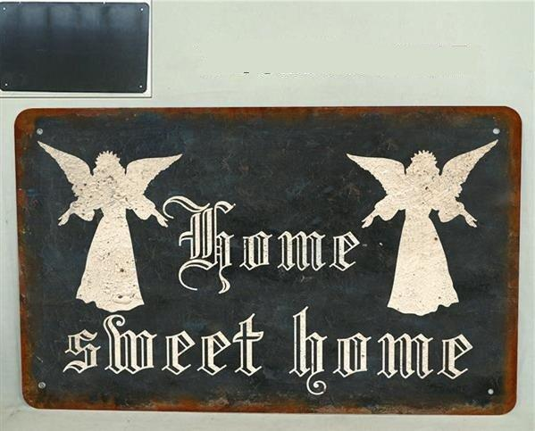 Plechová cedule Andělé Home sweet home