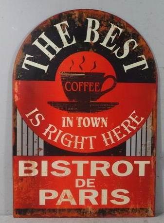 Plechová cedule The best coffee in town