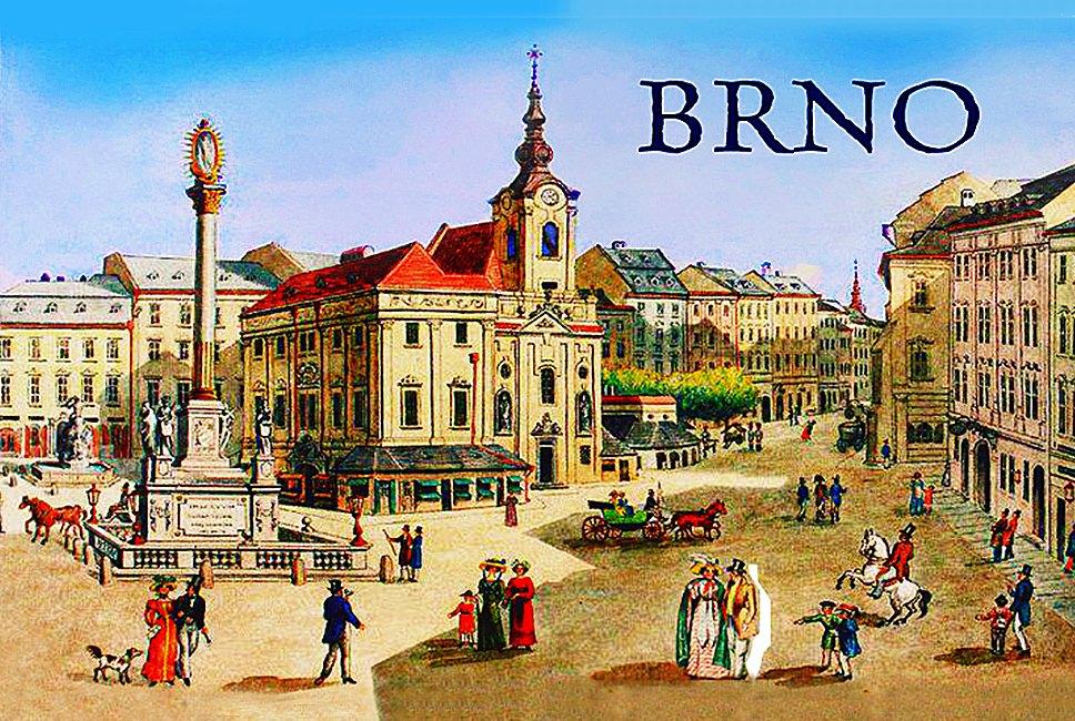 Magnet na Ledničku Brno - Náměstí Svobody retro