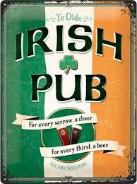 Plechová cedule Irish pub