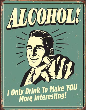 Plechová cedule Alcohol!