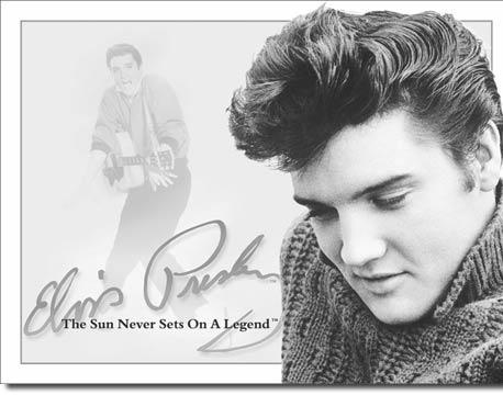Plechová cedule Elvis signature