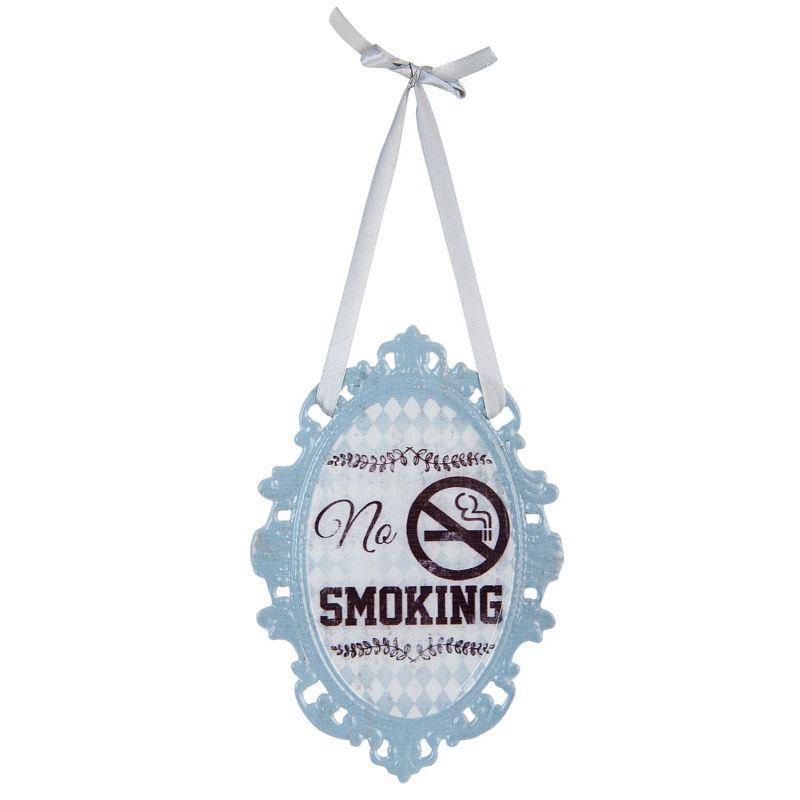 Plechová cedulka No smoking - Nekouřit