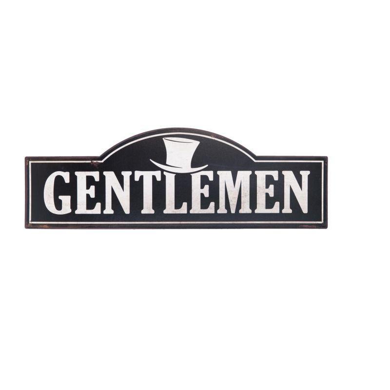 Plechová retro cedule Gentlemen