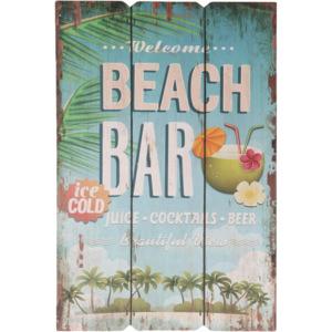 Dřevěná cedule Welcome to the Beach bar