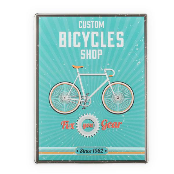 Plechová cedule Bicykles shop