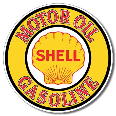 Plechová cedule Shell Gasoline