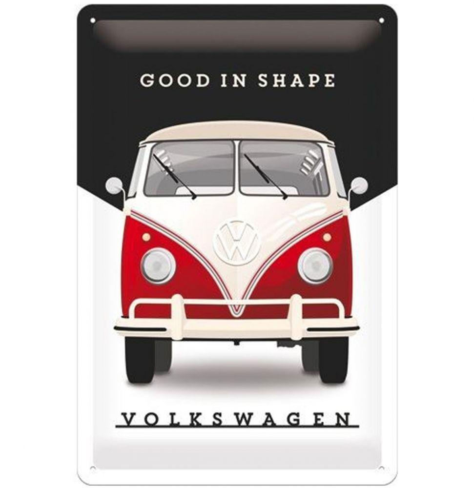 Plechová cedule VW Good in shape