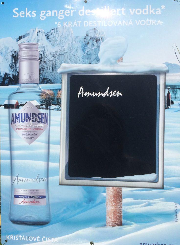 Plechová cedule Amundsen tabule