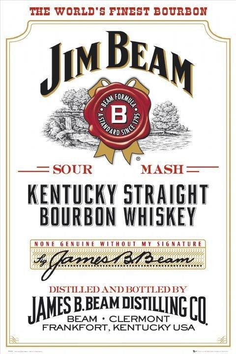 Plechová cedule Jim Beam white The worlds finest bourbon