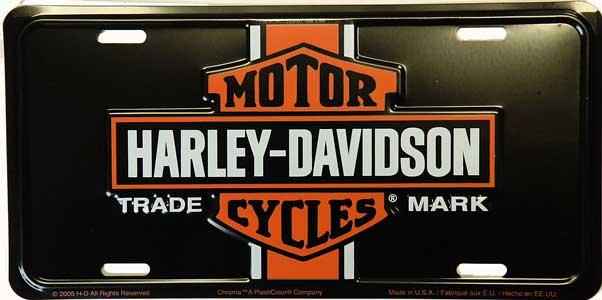 Plechová retro cedule SPZ Harley Davidson Vintage