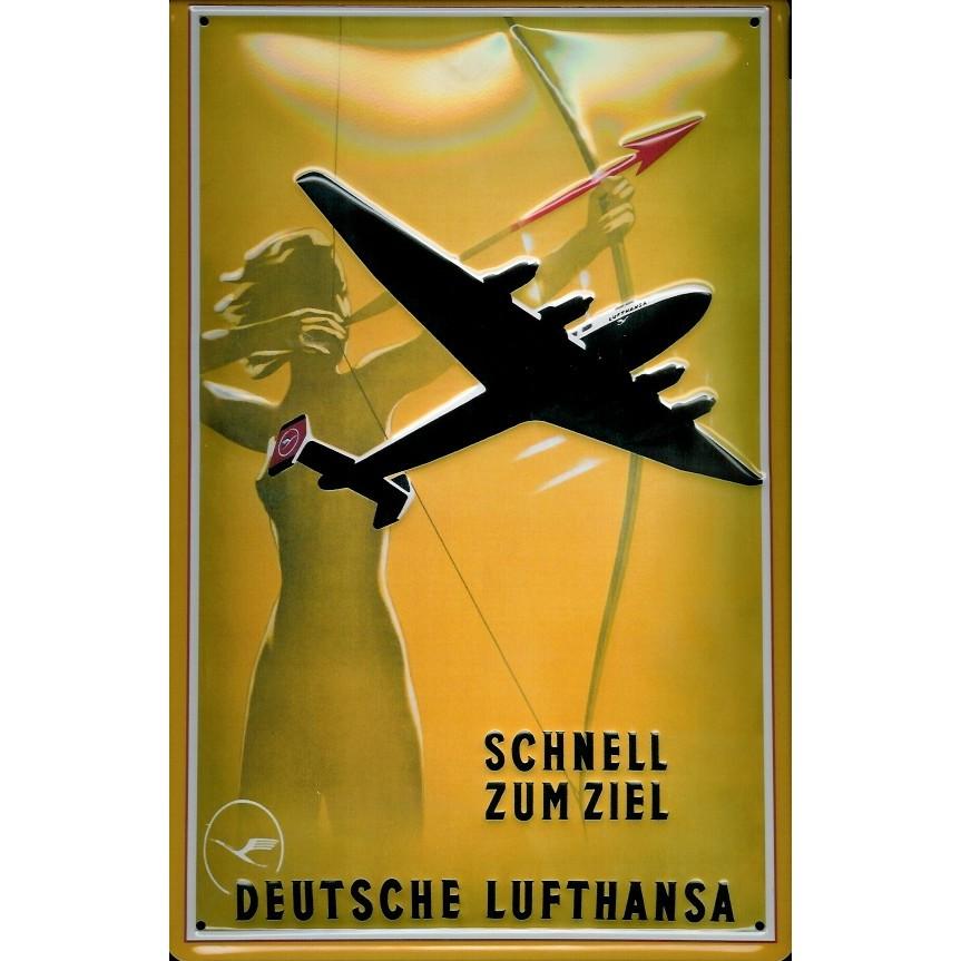 Plechová cedule letadlo Deutsche Lufthansa