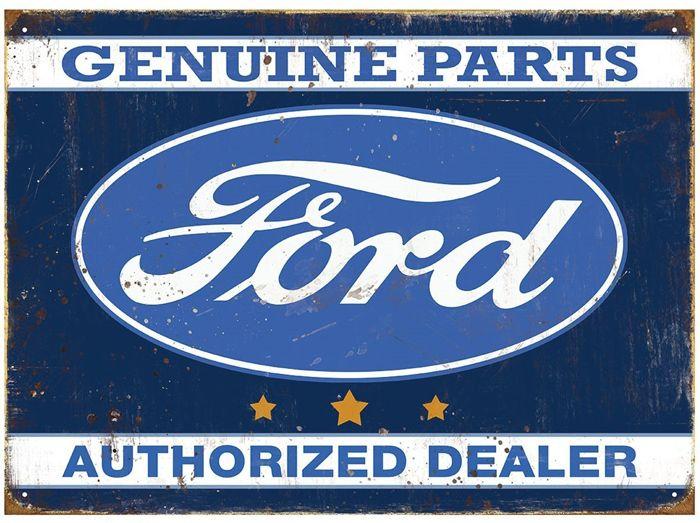 Plechová retro cedule Ford Authorized dealer