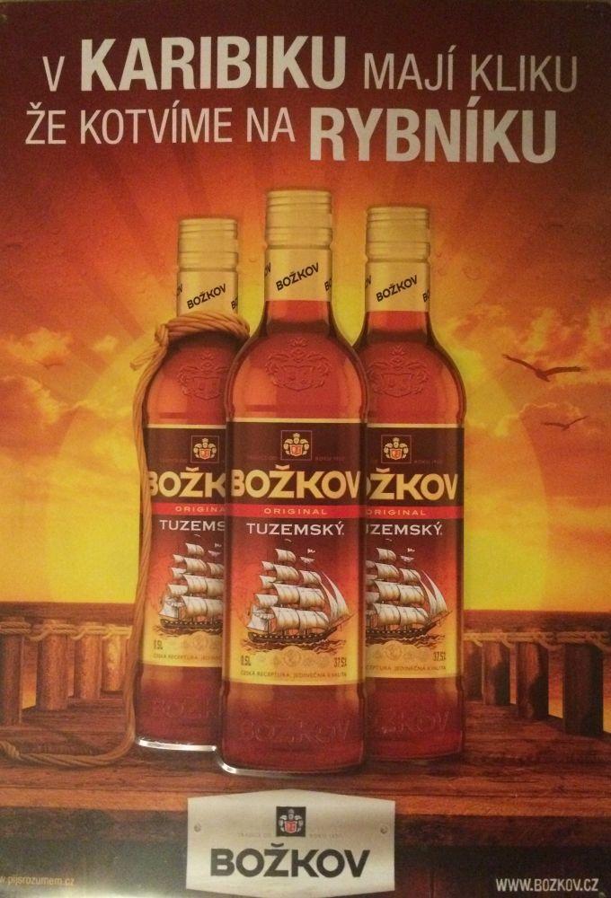 Plechová cedule rum Božkov