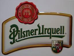 Originální plechová cedule Pilsner Urquell Pečeť - vykrajovaná