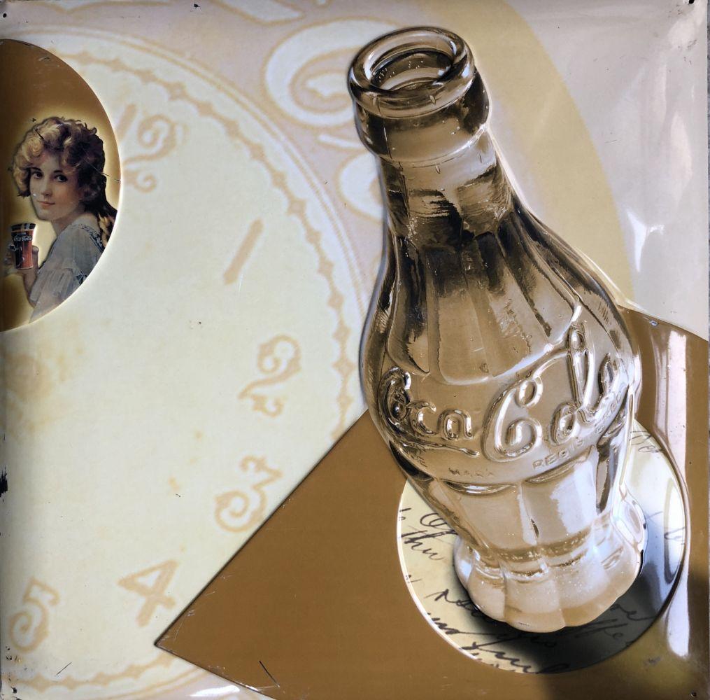 Originální plechová cedule Coca cola hodiny