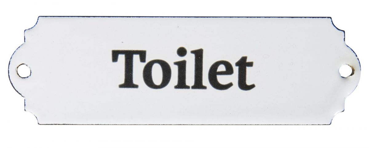 Plechová cedulka na dveře Toilet