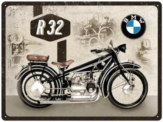 Plechová cedule motorka BMW R 32