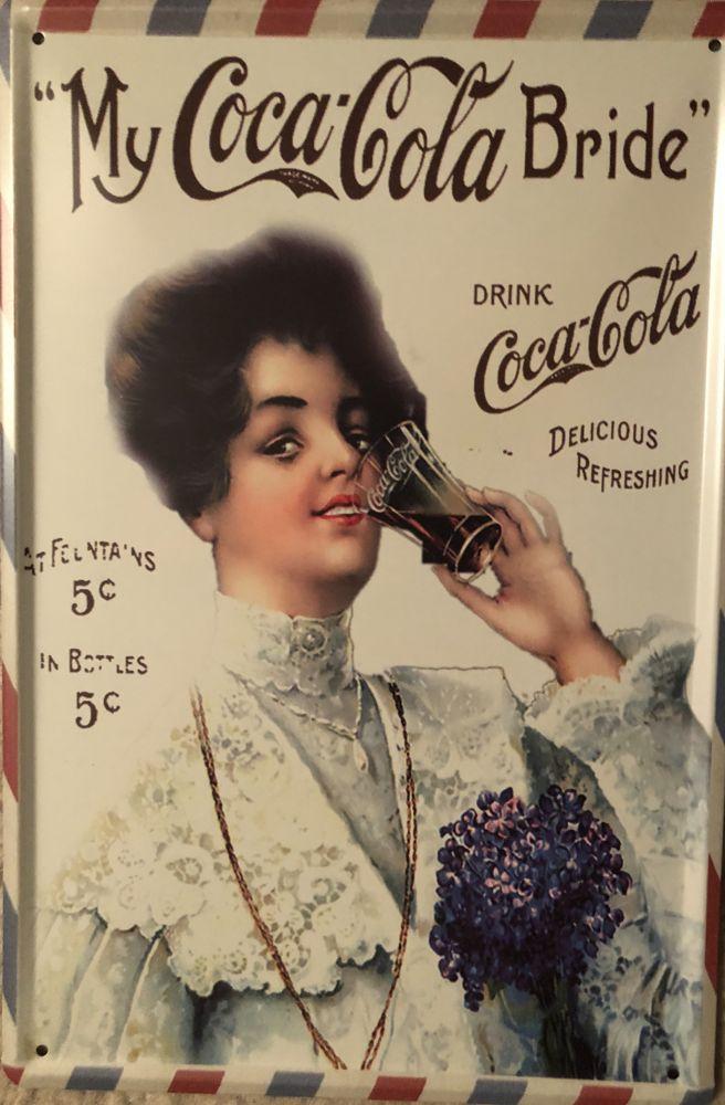 Plechová cedule My Coca-Cola Bride