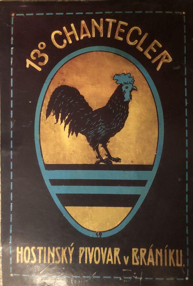 Originální kartonová cedule Hostinský pivovar v Bráníku