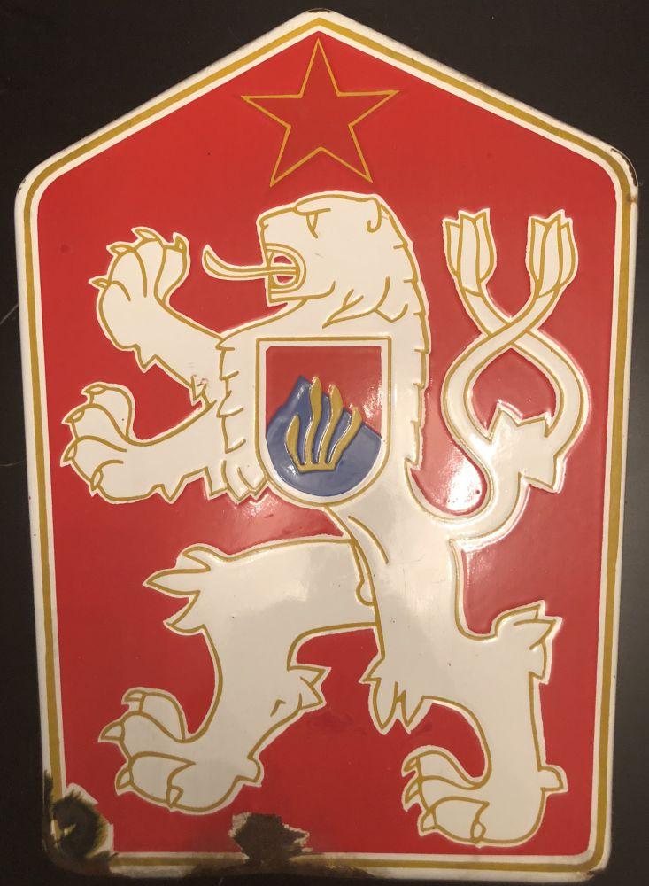 Originální smaltovaná cedule Znak ČSSR