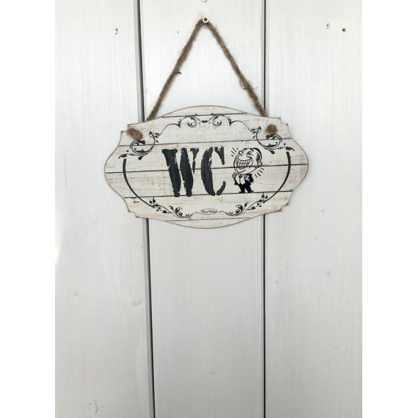 Dřevěná cedule na dveře - tabulka WC Páni