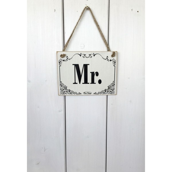 Dřevěná cedule na dveře - tabulka Mr.