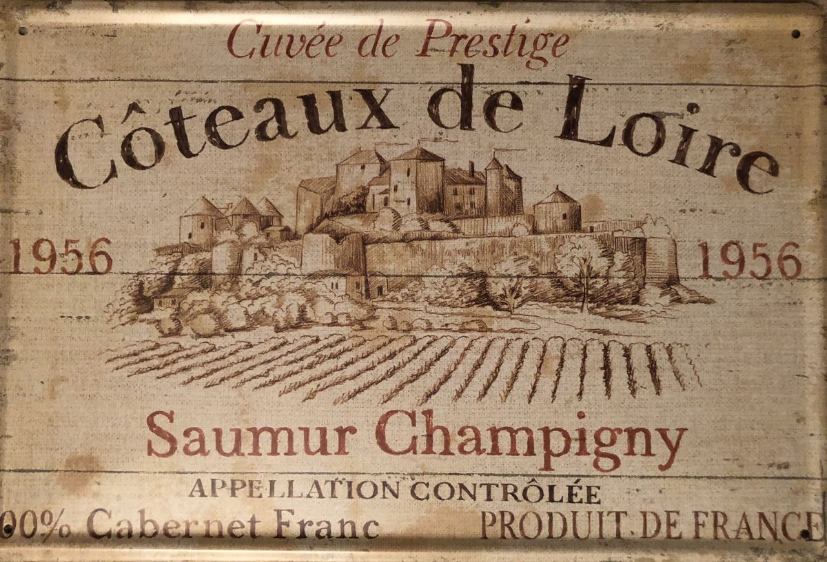 Plechová cedule Víno Coteaux de Loire