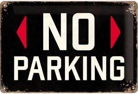 Plechová cedule No parking