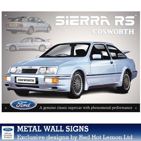 Plechová retro cedule Ford Sierra RS Cosworth
