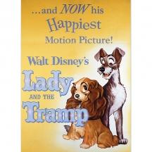 Plechový magnet Lady Tramp Disney