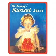 Plechový magnet Sunset Jelly