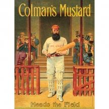 Plechová cedule Colmans Cricketer - Kriket