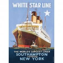 Plechová cedule Loď White star line