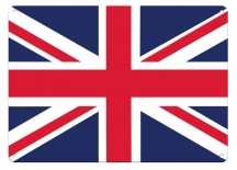 Plechová cedule Jack Union - vlajka Anglie tmavá