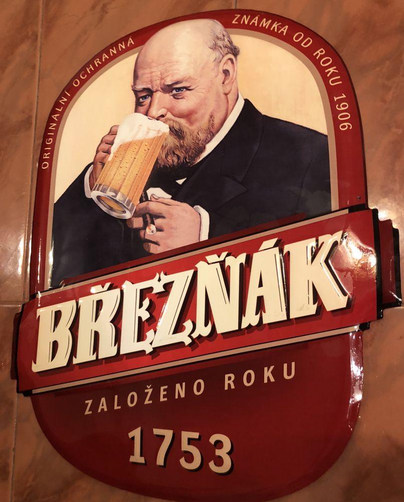 Originální plechová cedule Pivo Březnák