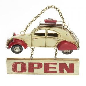 Plechová cedule Open - Auto