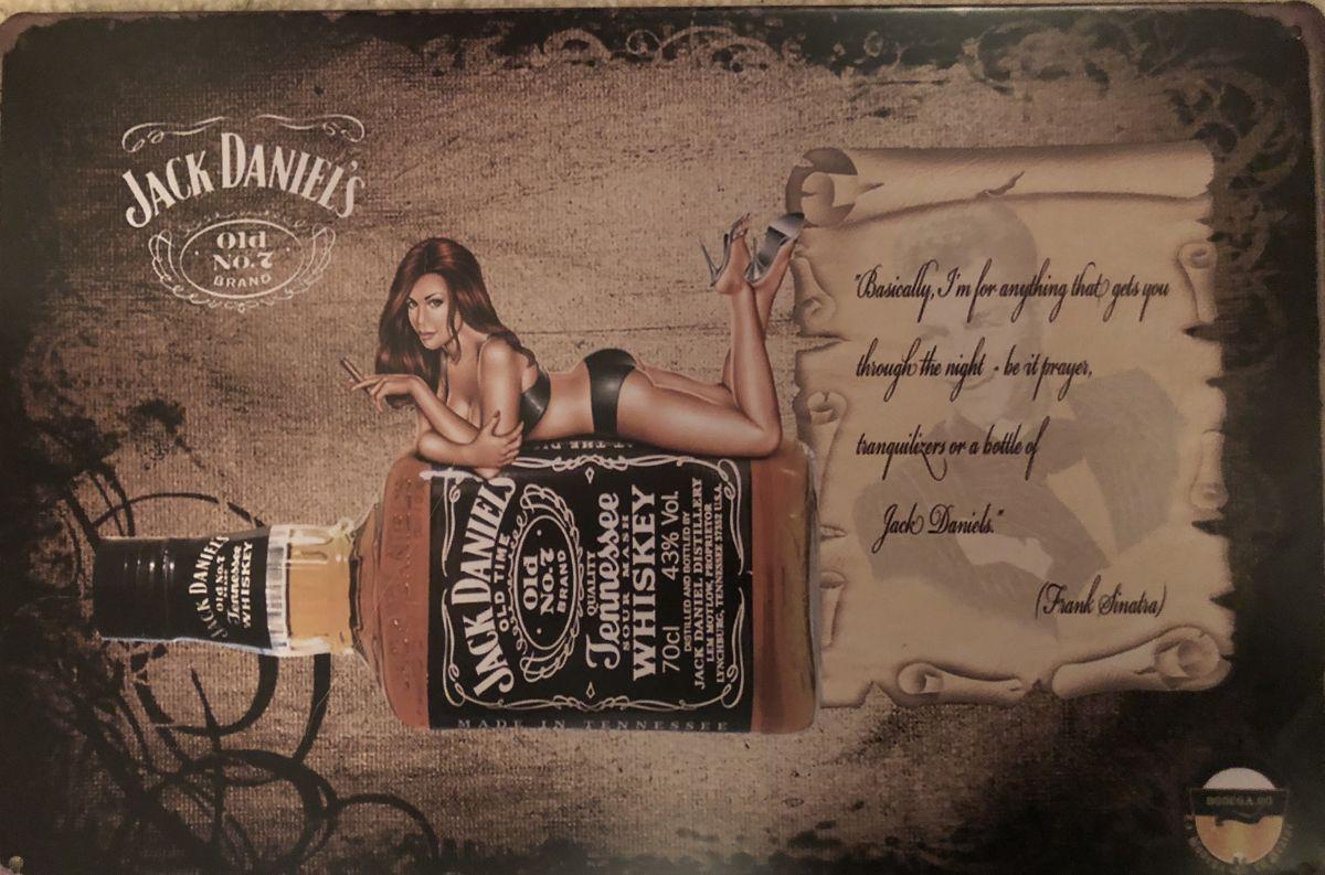 Plechová cedule Jack Daniels Frank Sinatra