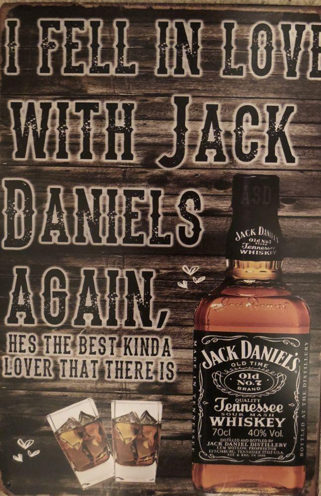 Plechová cedule Jack Daniels I fell in love