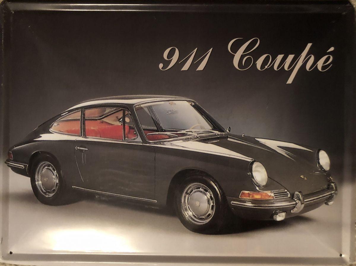 Plechová retro cedule Porsche 911