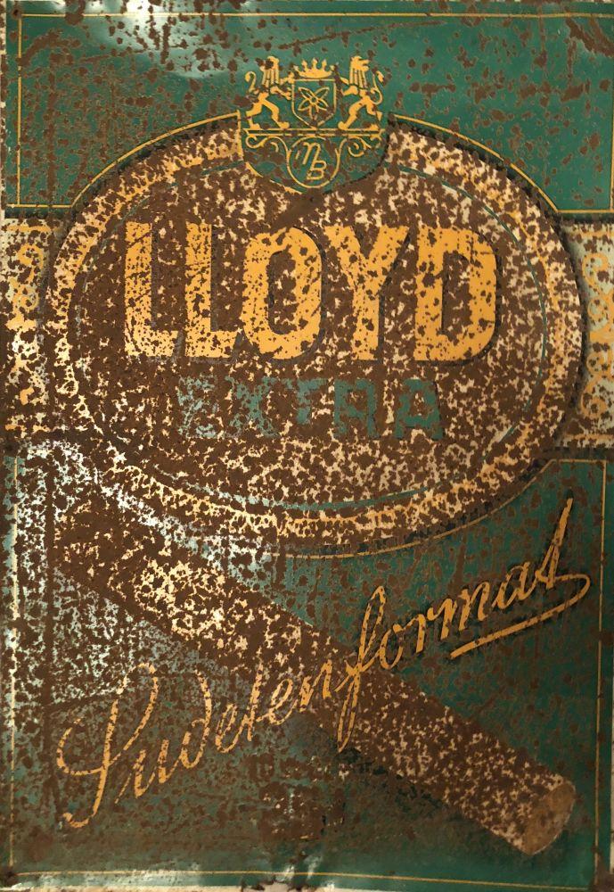 Starožitná originální plechová cedule Lloyd extra