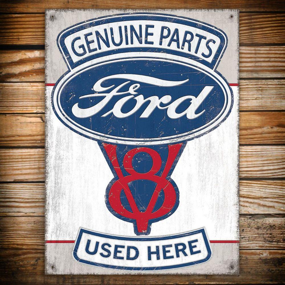 Plechová retro cedule Ford Genuine parts